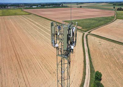 Inspection visuelle via photo drone d'une antenne relais
